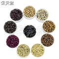H.P.W. Hair Beads 5.0mm 1000pcs Silicone Micro Rings Locks Links Beads For Hair Extensions Tools Kits 10 Colors Available