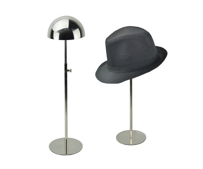 Stainless Steel wig cap holder stand rack Metal Hat Display Rack Stand With Half Dome Hat