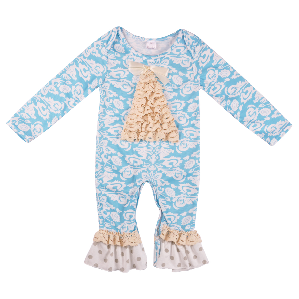 New Fashion Baby Christmas Floral Girl Knitted Cotton Winter Jumpsuit Christmas Tree   Romper   Newborn Infant Clothing GPF808-241