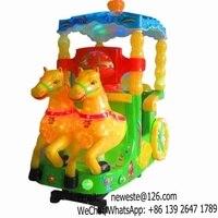 Amusement Park Plastic Horse Kids Rides Amusement Machines