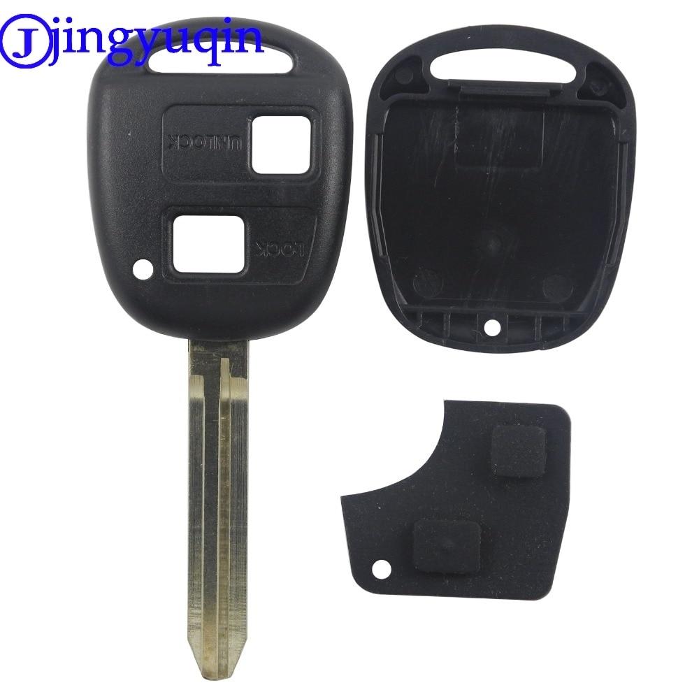 все цены на jingyuqin +Rubber Pad 2 Buttons Remote Car Key Blank Cover Case For Toyota Prado Camry RAV4 Toy43 онлайн