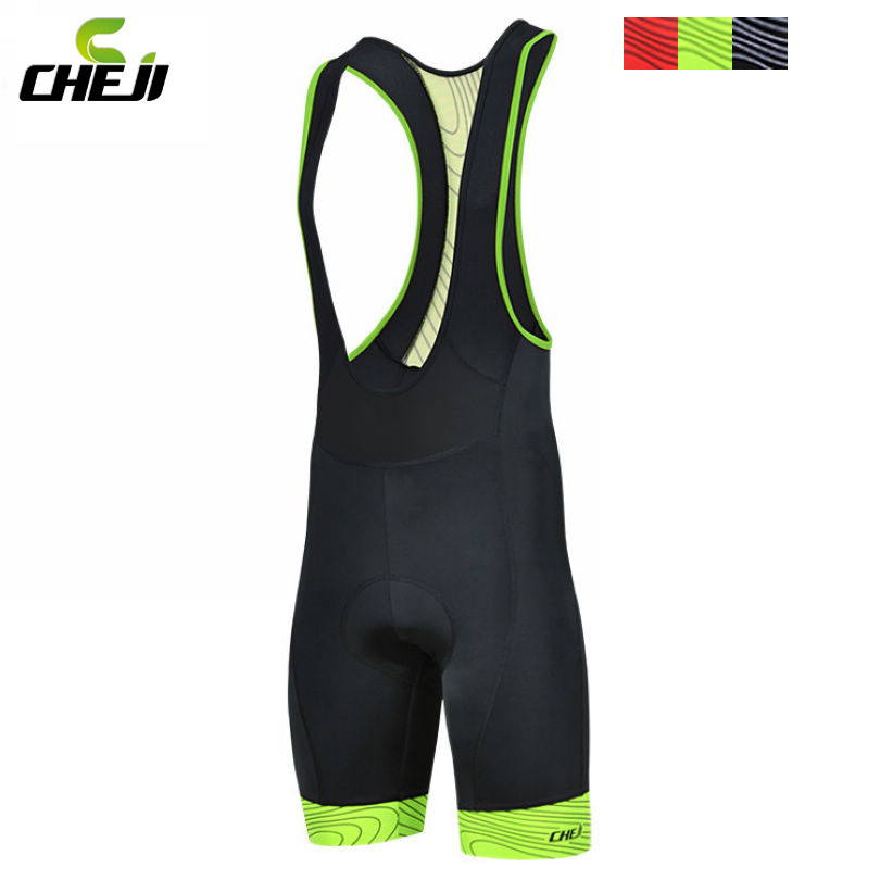 Hot selling!! CHEJI Men Outdoor Wear Bike Bicycle Cycling 3D Padded Riding Bib Shorts S-3XL 3-Colors