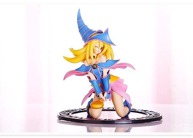 Free Shipping Anime Yu Gi Oh Mage Sexy Girl Black Dark Magician Girl Figure With Swing