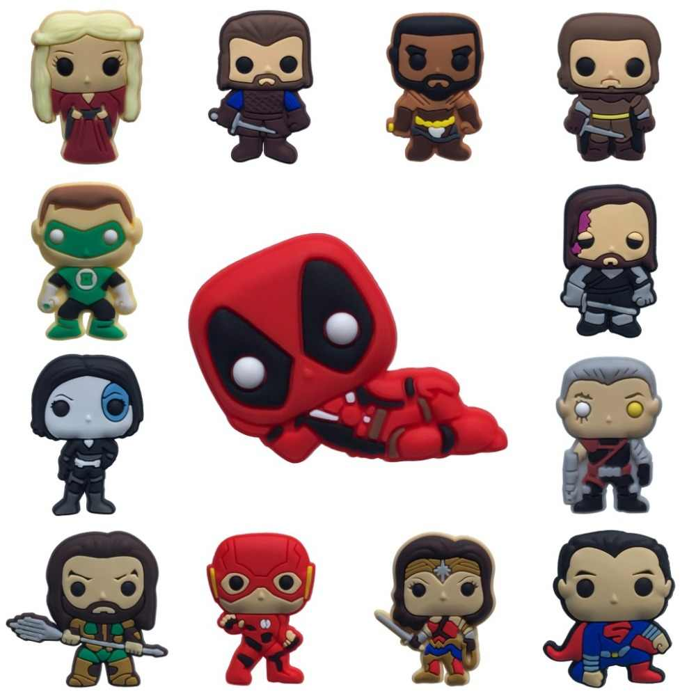 1PCS PVC Spille Figura di Cartone Animato di Deadpool Game of Thrones Icone Spilli Distintivo Spilli Pulsante Distintivo Zaino Vestiti Hat Decor