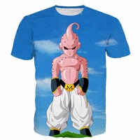 New Arrive Cool Buu T Shirts Dragon Ball Z Super Saiyan Tees Menwomen Anime Tshirts Hipster