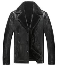 Factory Outlet! 2016 Men's Leather Jacket Male Fur Coat Real Leather Jackets Coat For Men Plus Size: M -XXXL