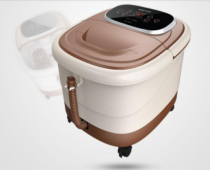 Electric Footbath Cachine Full Utomatic Foot Massage Heating Spa Roller Massager Bucket Constant Temp Pedicure Basin Electronic electric antistress therapy rollers shiatsu kneading foot legs arms massager vibrator foot massage machine foot care device hot