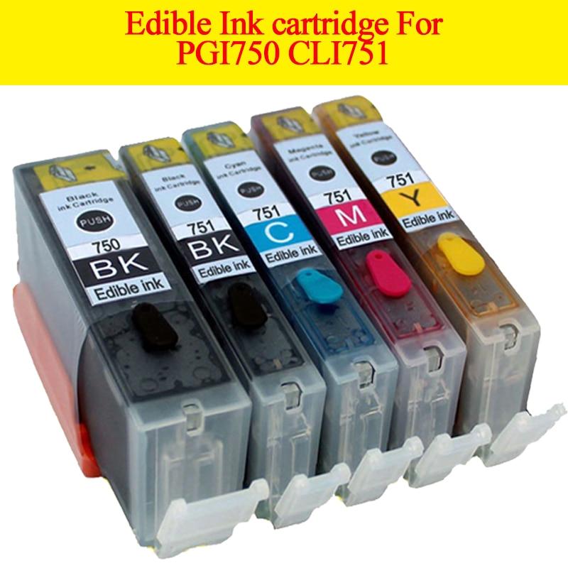 hotsale 5ks / hodně jedlých inkoustových kazet PGI750XL CLI 751XL - Kancelářské elektroniky