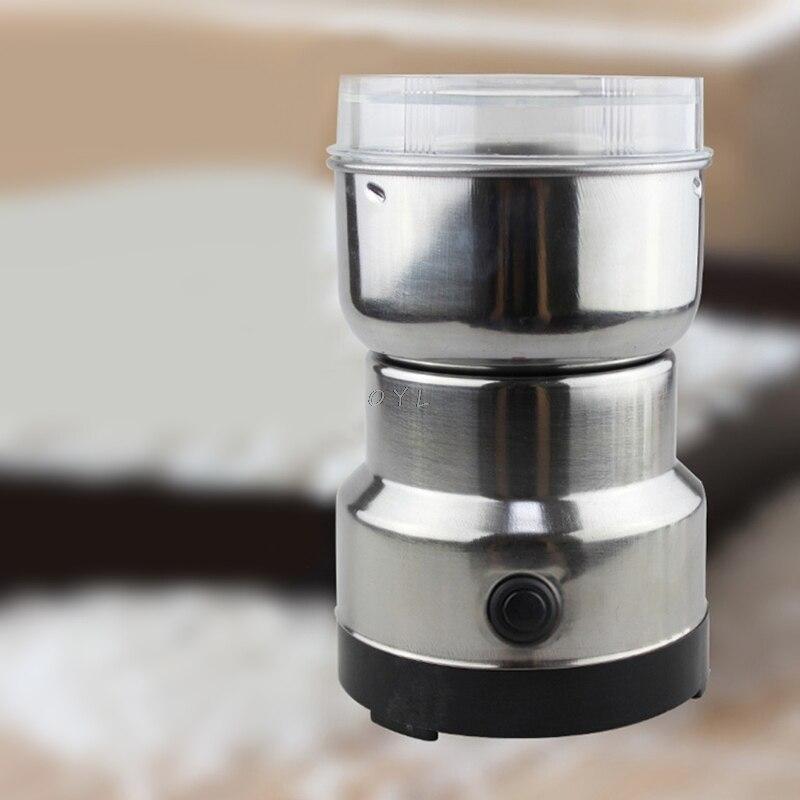 Nanssigy Molinillo Electrico de Caf/é y Especias,Lavable Cuchillas de Acero Inoxidable con L/áminas Antidesgaste,para Hierbas Nueces,Pimienta,Semillas o Granos,Capacidad 150 gr,150W