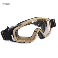 FMA Tactical Ballistic Goggle Glasses Airsoft Military 2pcs Of Lens For Helmet Paintball Adjust Safety Eyewear