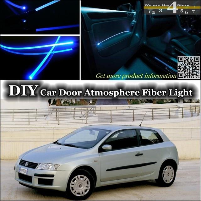 voor fiat stilo interieur omgevingslicht tuning sfeer glasvezel band lichten binnen deur panel verlichting niet