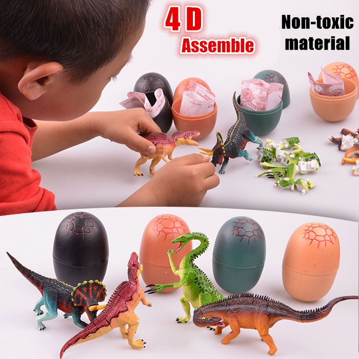 Smare Children Action figure Toys Dino Puzzle in jurassic egg building blocks For Children Earlier Education