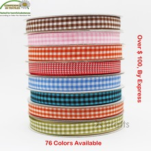 Gingham Ribbon 6 MM 3/8 9mm 5/816mm 125MM  1-1/2 38 Wedding DIY Tape Gift Christmas Red 76 Colors