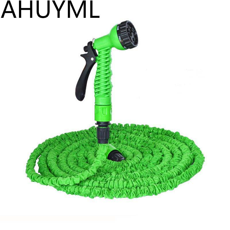 25ft/50FT/100FT/200FT Magic Flexible Hose For Garden Car Expandable Garden Hose Irrigation 7 In 1 Spray Gun Quick Connector