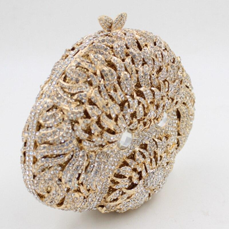 De Gold Parti Femmes Forme Diamants Soirée Dames Évider À white Gold Chien Mini Embrayages Chaîne Luxe Main Xiyuan Sac Plein Sacs Or Épaule CRqRvw5W