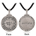 BijouxTalisman For Good Luck Key of Solomon Pentacle Seal Pendant Necklace Pagan Wiccan Jewelry Supernatural Amulet  Men