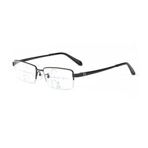 Image 3 - Lunettes de lecture multifocales Anti rayons bleus, lunettes progressives, pour lecteurs à rayons GAMMA, presbytie à mise au point Multiple, lunettes légères de marque