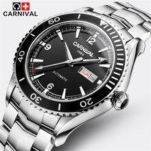 2017 relojes de marca de Lujo de negocios hombres deportes reloj de buceo 50 M Relojes de moda luminoso impermeable reloj mecánico Automático