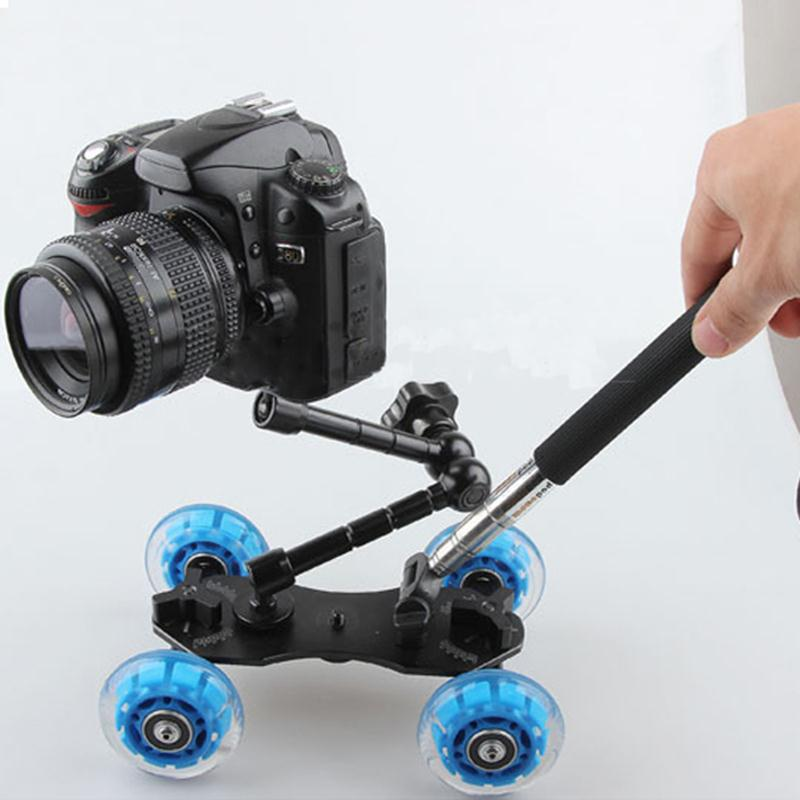 2018 New 3in1 Table photography dolly+11 inch Magic arm+Handheld lever monopod For DSLR Rig Camera movie kit Photo Studio kits