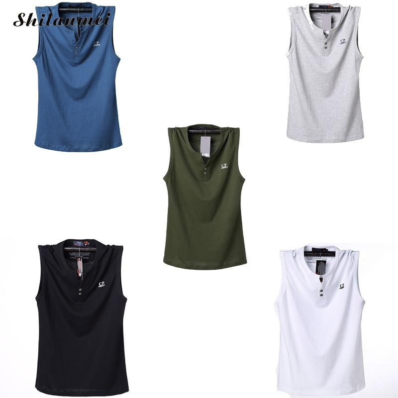 9cab2069bfa3a Plus size 3XL 4XL 5XL 6XL fashion solid color cotton t shirt men clothing  summer tank tops tee causal letter printed loose Tops