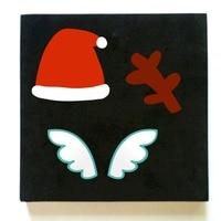 Cutting Dies Christmas hat antlers DIY scrapbooking steel rule dies cut Felt leather work in sizzix machine