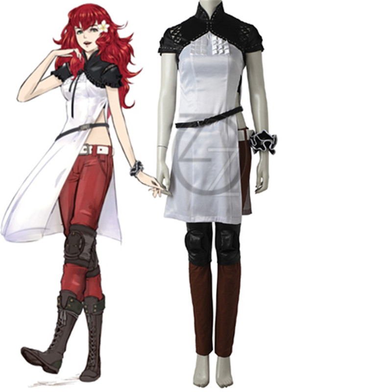 NieR Automata Devola Popola Cosplay Costume adult women Game Halloween Costume Fancy costume Sexy Party Dress Boots Adult Women