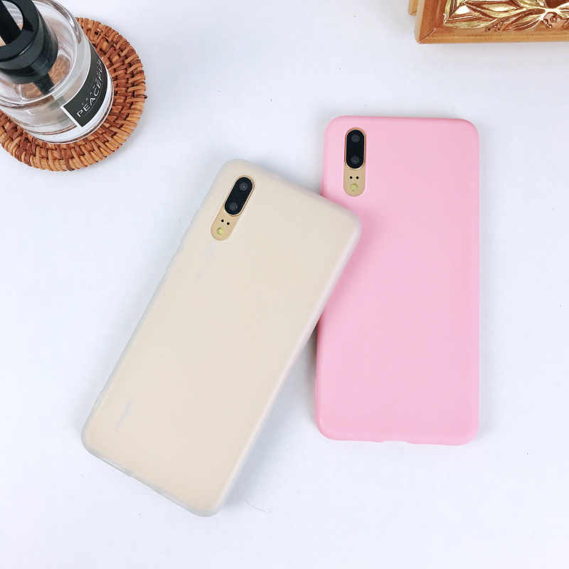 Luxury Soft Back Matte Color Cases for Huawei P30 P smart Mate20 Y6 Y7 Y9 Nova4 Case TPU Silicone on for Honor 8A 8C V20 10 lite