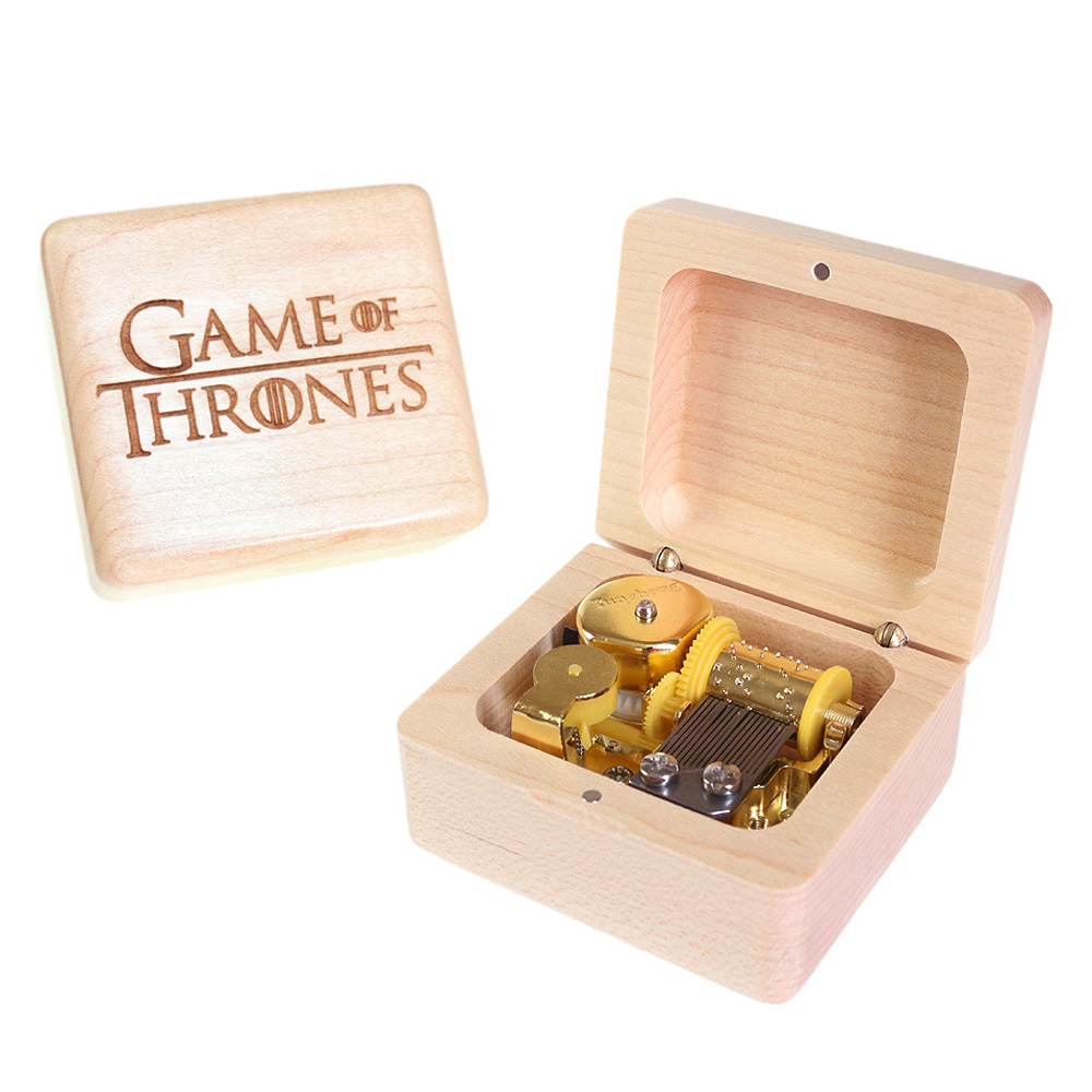 Sinzyo Handmade Wooden Game of Thrones Music Box Wood Carved Mechanism Musical Box special Gift For Christmas Valentine's day-in Music Boxes from Home & Garden    3