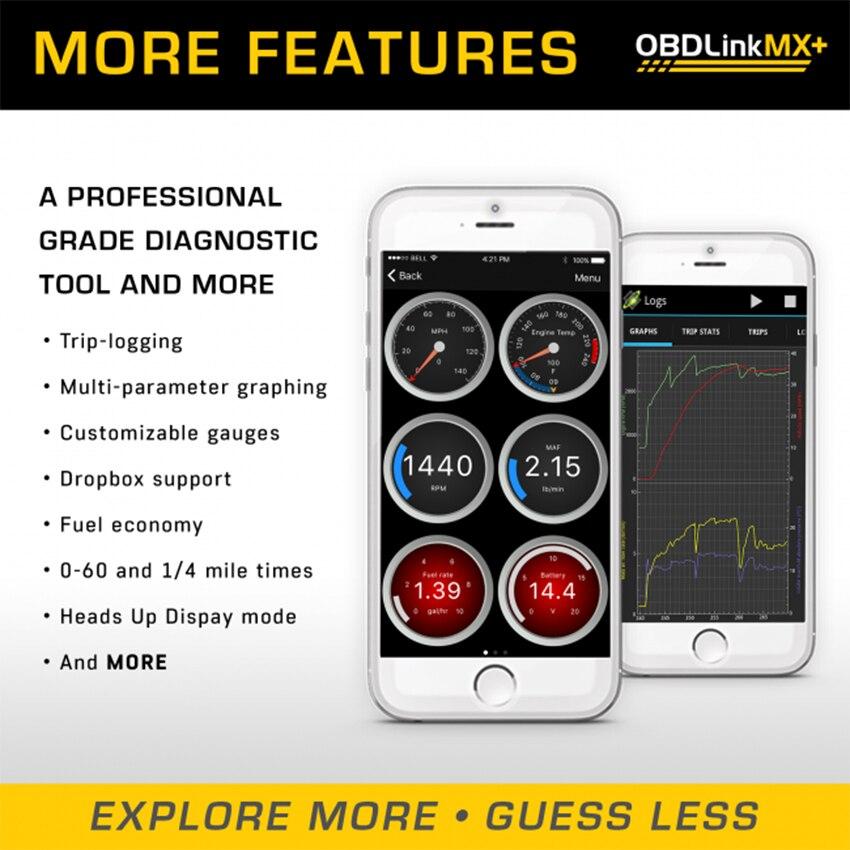 OBDLink MX PLUS OBD2 herramienta de diagnóstico de escáner para dispositivos iOS Android, Kindle Fire o Windows - 6