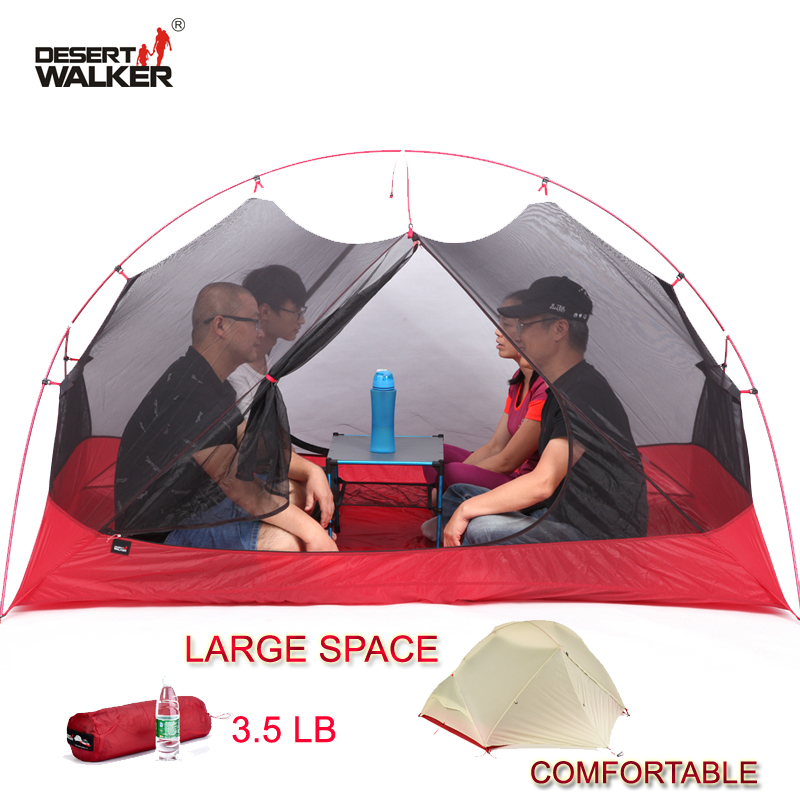 3.5LB 4 Person Ultralight 15D Nylon Beach Tent 213*134*120CM Large Space Family Camping Tent Comfortable 4 Seasons Outdoor Tent outdoor camping hiking automatic camping tent 4person double layer family tent sun shelter gazebo beach tent awning tourist tent
