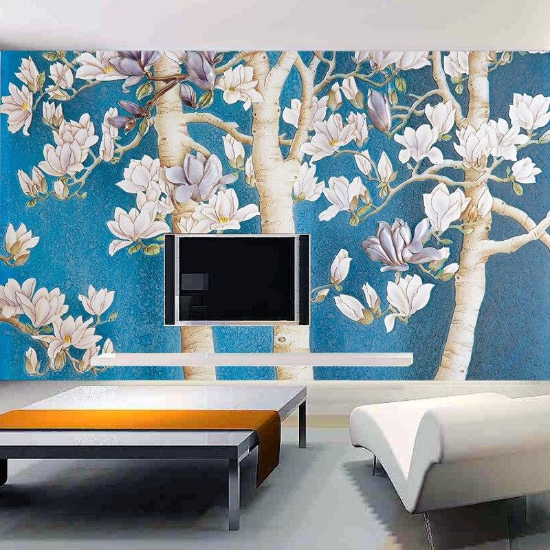 Elegan Ruang TV Latar Belakang Wallpaper Kontinental Bedroom Dinding Minimalis Cina Modern Hangat In Wallpapers From Home Improvement On