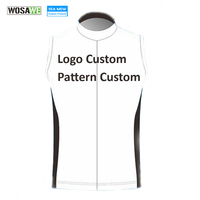 WOSAWE Custom Cycling Jersey Sleeveless Light Weight Bike Gilets Windproof Customize Jersey Breathable US Size Jacket