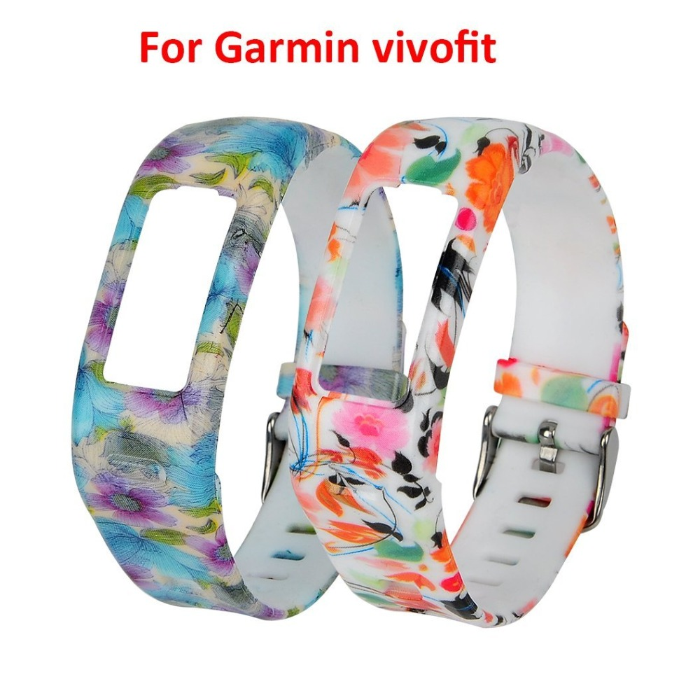 (JM1GJHS) 2 pcs/lot Replacement Rubber Band with Clasps for Garmin Vivofit Brace
