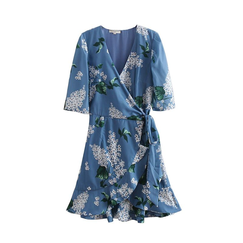 f7a14a6faacf Wonder 2018 Summer New Vintage Dress women Mature Floral Print Bow Rope  Dresses Belted Half Sleeve Slim Fit Dress Vestidos-in Dresses from Women's  Clothing ...