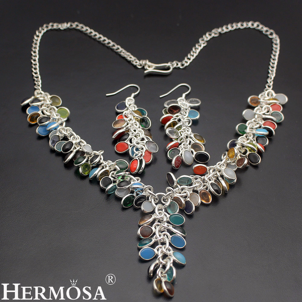 Exotic fashion jewelry - Unique Sale Colorful Chalcedony Exotic Fashion Wom