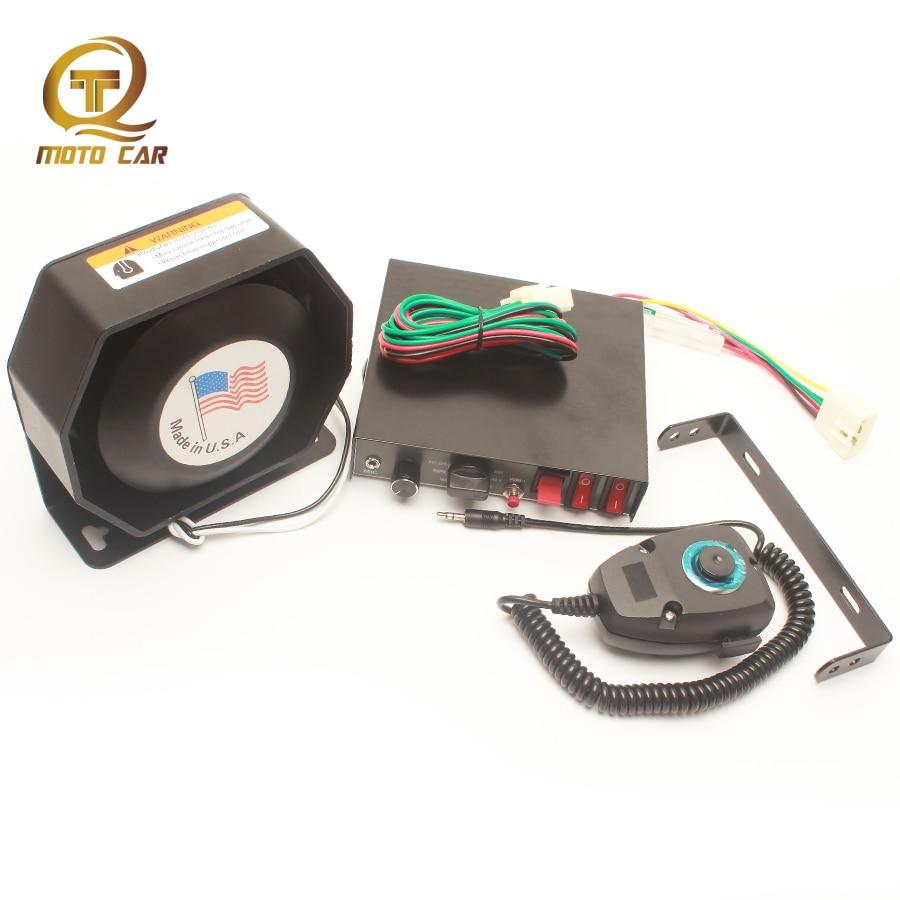 Universal Alarm Loudspeaker Multi Tone 12 Sound Voice 12v 200w Horn Multitone Siren Train Boat Car Megaphone 9 Warning Police