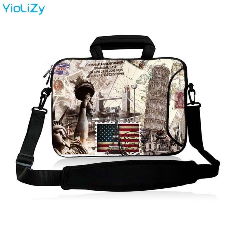 """Butterfly 13/""""15/""""17/"""" Notebook Tablet Shoulder Bag Laptop Messenger Case Handbags"""