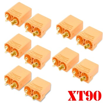 10 Pairs /20pcs Female Male XT90 XT-90 Gold Plated Banana Bullet Connector Plug 4.5mm For RC LiPo Battery