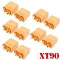 5 Pairs /10pcs Female Male XT90 XT-90 Gold Plated Banana Bullet Connector Plug 4.5mm For RC LiPo Battery