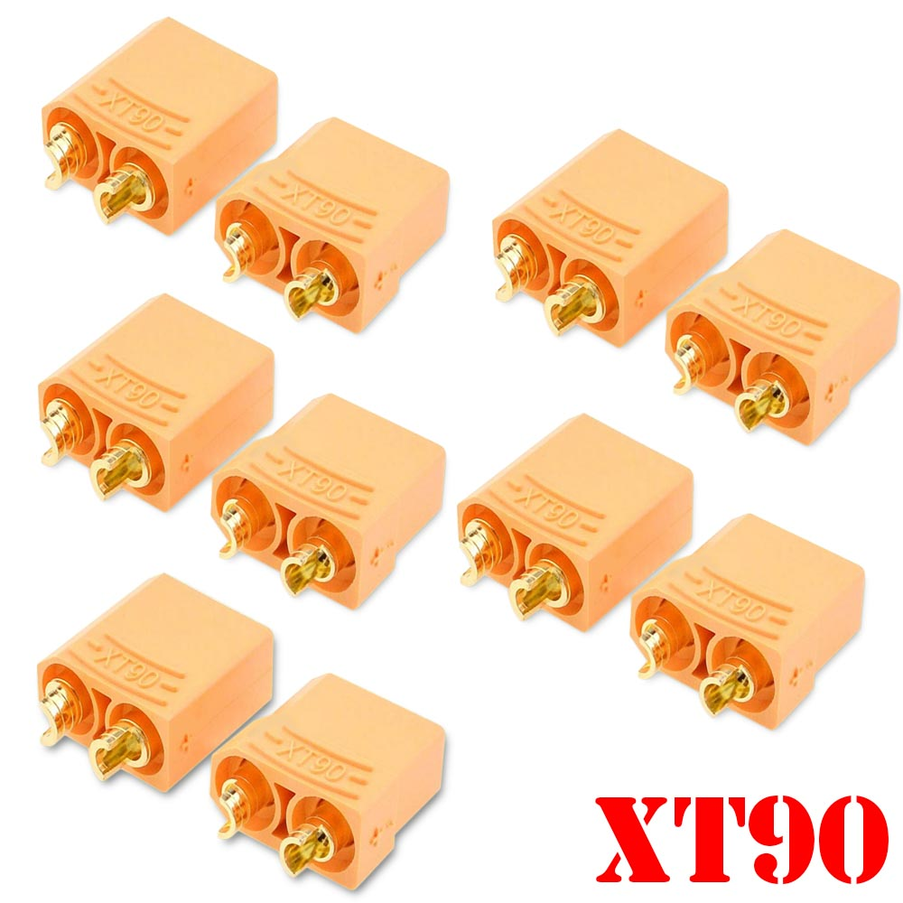5 Pairs /10pcs Female Male XT90 XT-90 Gold Plated Banana Bullet <font><b>Connector</b></font> Plug <font><b>4.5mm</b></font> For RC LiPo Battery image