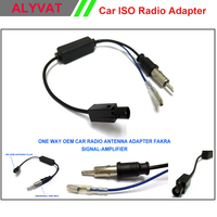 Ücretsiz Kargo Evrensel Tek Yönlü OEM Araç Radyo Anten Adaptörü Fakra sinyal Otomatik Stereo Radyo DVD Oynatıcı
