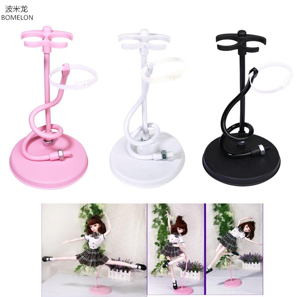 Bjd Doll Stand Suporte Flexible Support for Bjd 1/3 Doll White/Black/Pink Metal Display Holder Bracket for Dolls AccessoriesDolls Accessories   -