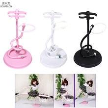 Bjd Doll Stand Suporte Flexible Support for Bjd 1/3 Doll White/Black/Pink Metal Display Holder Bracket for Dolls Accessories