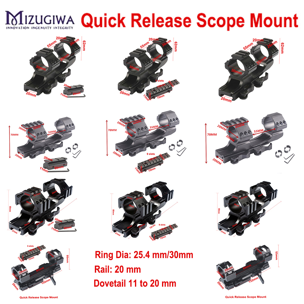 Rifle Optic Scope Mount 25.4mm/30mm Rings Mount with Bubble Level fit 20mm / 11mm Picatinny Rail for Tactical Hunting|Scope Mounts & Accessories| |  - title=