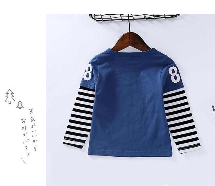 New Spring Boys Girls Cartoon Cotton T Shirts Children Tees Boy Girl Long Sleeve T Shirts Kids Tops Brand Baby Clothes 12M-8Y 28
