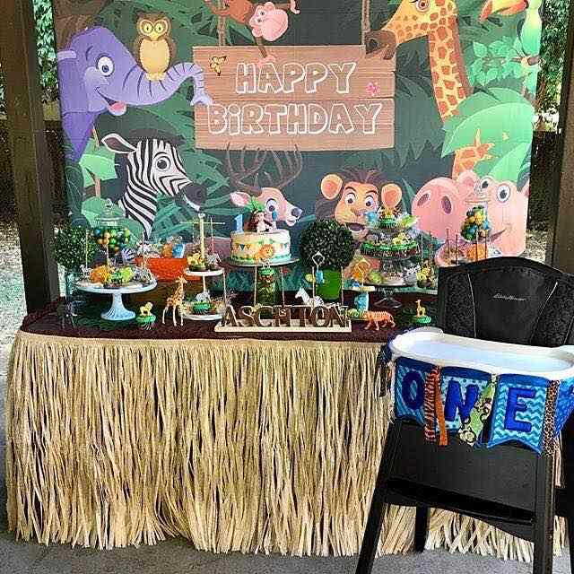 Mehofoto arka plan fotoğraf Jungle Safari parti hayvanlar karikatür yaprakları orman fotoğraf arka fonu doğum günü partisi photocall stüdyo