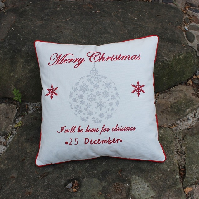 VEZO HOME Print Christmas Wish Star Snowflake Cotton Canvas Sofa Chair Home  Decoration Cushions Throw Pillows
