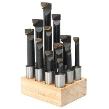 12Pcs 18Mm Shank F1 Boring Bar Set For 3 Inch Boring Head Carbide Tipped Milling Tool