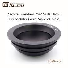 XILETU LSW-75 75mm Aluminum Alloy Tripod Ball Adapter Bowl for Gitzo Manfrotto Sachtler Video Fluid Head