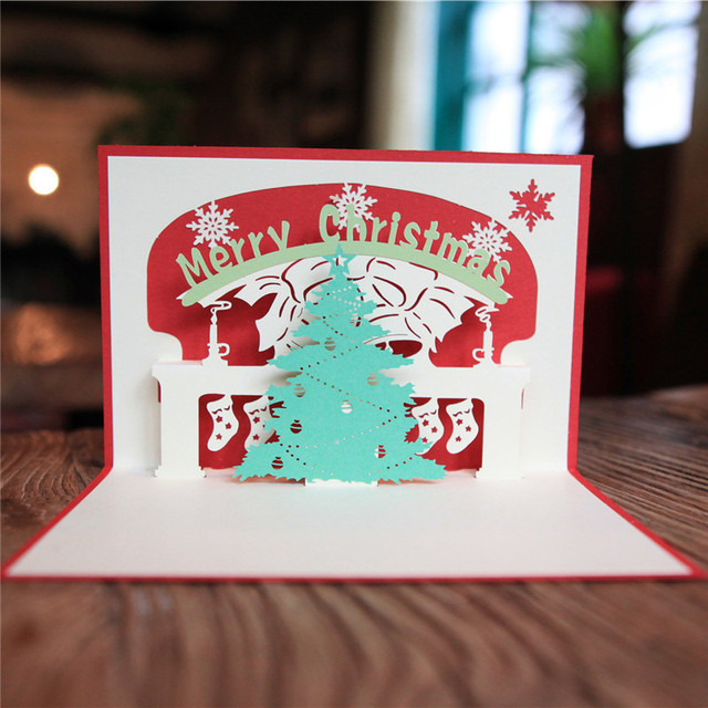 Ynaayu 1pcs 3d christmas greeting cards handmade design merry ynaayu 1pcs 3d christmas greeting cards handmade design merry christmas tree card baby bithday card party m4hsunfo